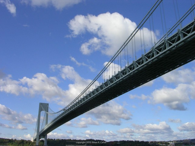 Verrazano Bridge--Copyright 2010 Vivian R. Carter