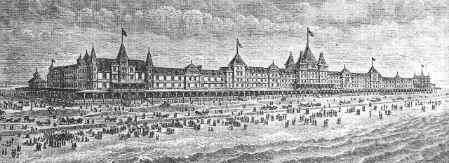 Drawing of Rockaway Beach Hotel, circa 1880