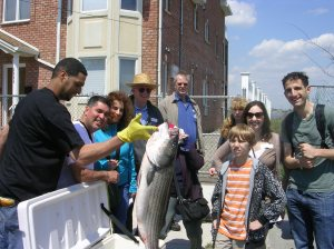 Anything can happen on a Jane's Walk. The big catch from 2011 in Rockaway Beach.