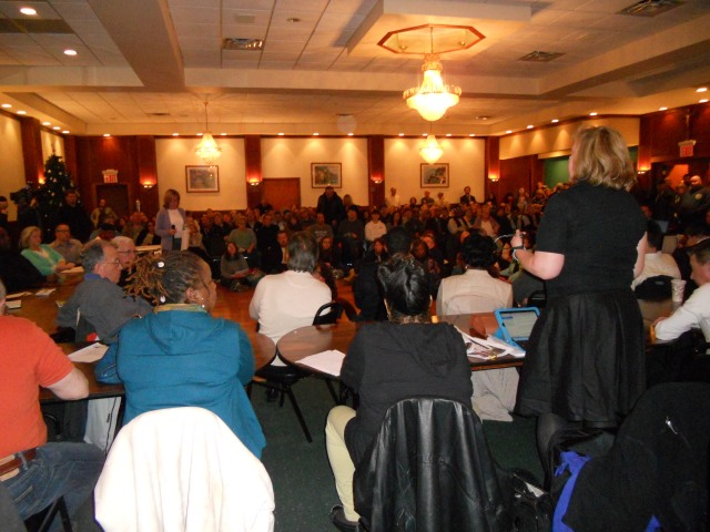 CB 14 panel member Noreen Ellis, President of Rockaway Civic Association, asserts concerns on behalf of homeowners.