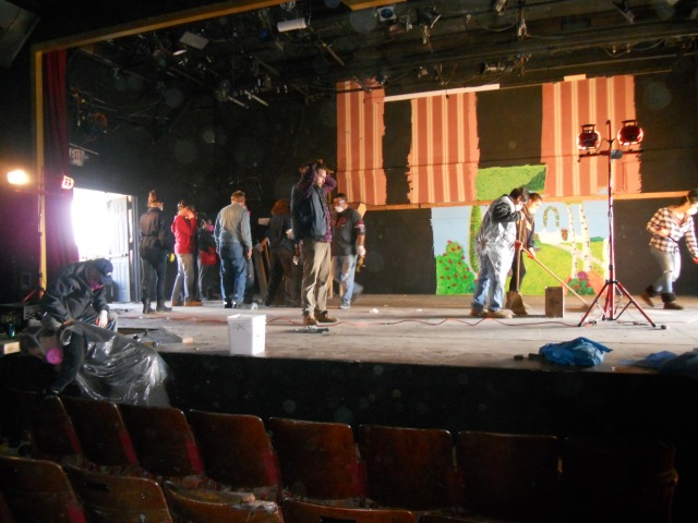 Cleanup of the Post Theater began in December 2012.