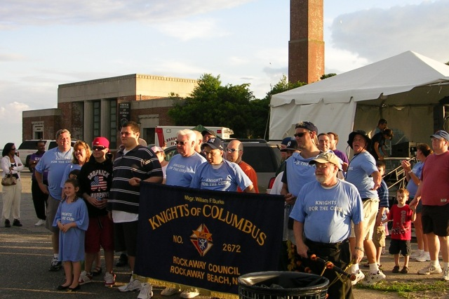 The Knights of Columbus have always anchored the all-night horseshoes tourney at the Relay for Life cancer fundraiser, Rockaway's annual group tent camping event at Riis Park.
