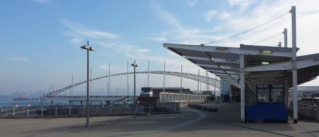 St. George ferry terminal on Staten Island's North shore, August 2014